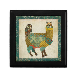 Gold Alpaca & Teal Owl   Gift Box
