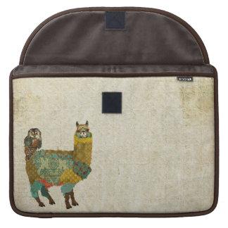 Gold Alpaca & Teal Owl Macbook Sleeve Sleeves For MacBooks