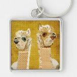 Gold Alpacas Keychain