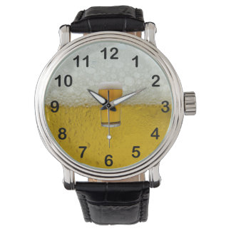 "Gold Amber ""The Time is Beer o'clock"" 2 Watch"