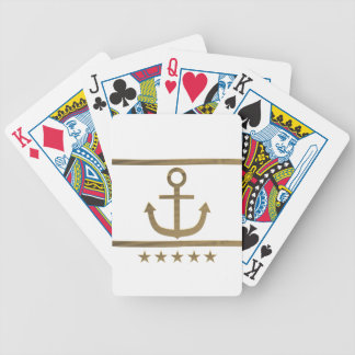 gold anchor happiness symbol bicycle playing cards