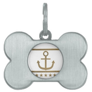 gold anchor happiness symbol pet tag