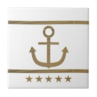 gold anchor happiness symbol small square tile