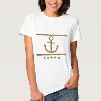 gold anchor happiness symbol t-shirt