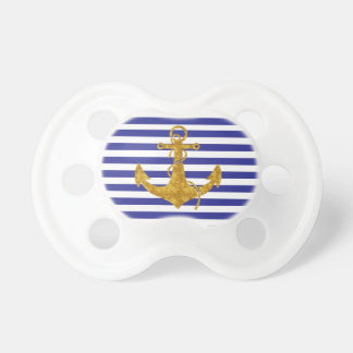 Gold Anchor on Blue Stripes Dummy