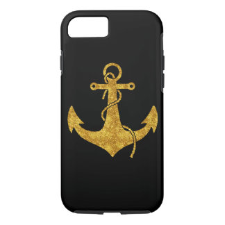 Gold Anchor Sparkle iPhone 8/7 Case