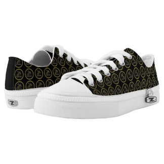 Gold and black 50th Anniversary Celebration Low Tops