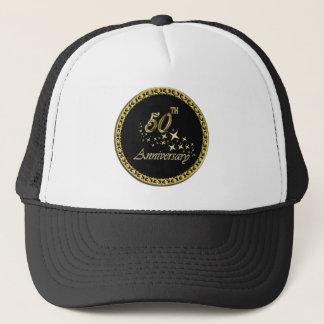 Gold and black 50th Anniversary Celebration Trucker Hat