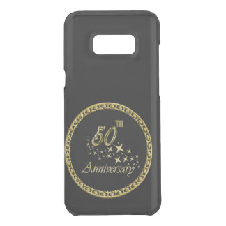 Gold and black 50th Anniversary Celebration Uncommon Samsung Galaxy S8 Plus Case