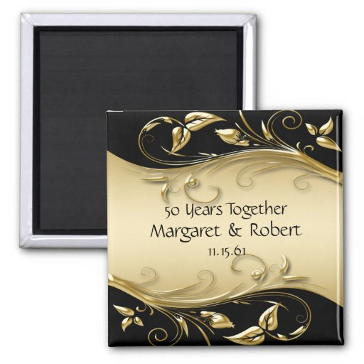 Gold and Black 50th Anniversary  Magnet