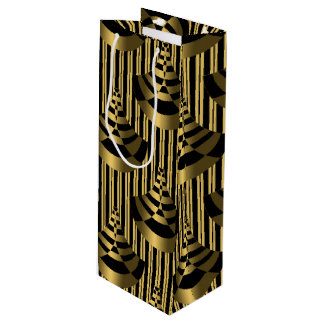 Gold and Black Art Deco Wine Gift Bag