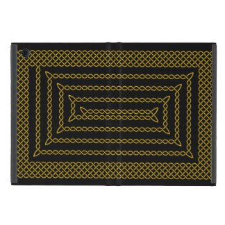 Gold And Black Celtic Rectangular Spiral iPad Mini Case