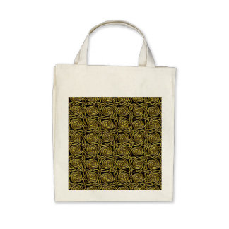 Gold And Black Celtic Spiral Knots Pattern Canvas Bag