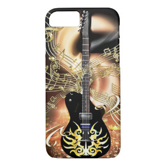 Gold and Black Electric Guitar Music iPhone 7 Case