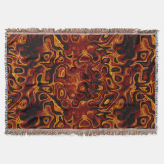 Gold and Black Fire Stone 1 Throw Blanket
