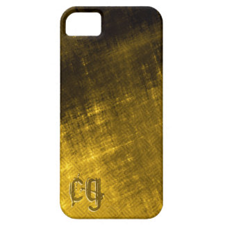 gold and black grungy tweed iPhone 5 cover
