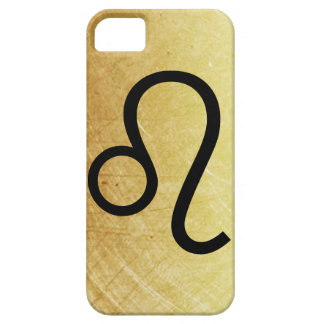 Gold and Black Leo Horoscope Sign Lion Symbol Case