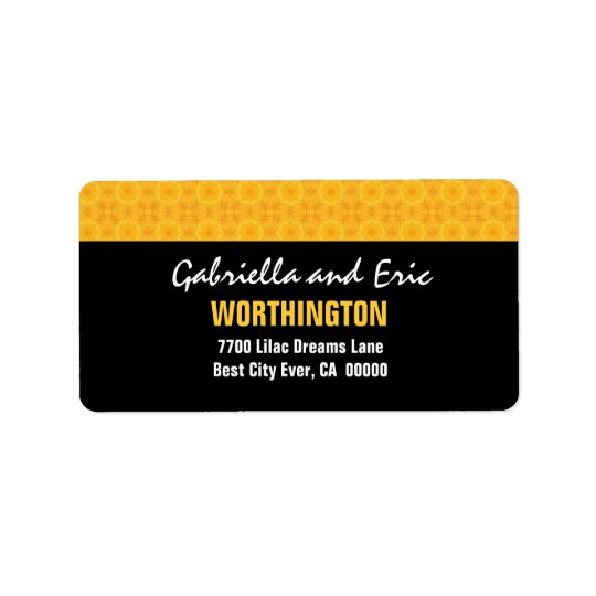 Gold and Black Modern Simple A310 Label