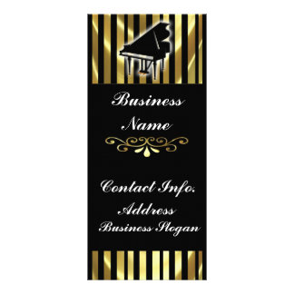 Gold and Black Piano Rack Card Stripes