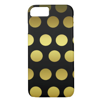 Gold and Black Polka Dot iPhone 8/7 Case