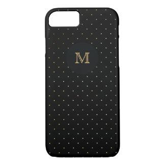 Gold and black Polka Dot Phone case