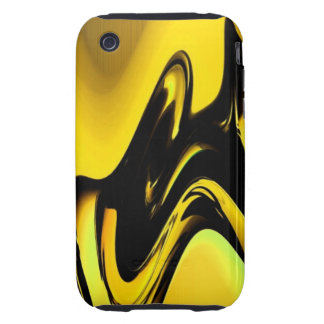 Gold And Black Pop Art iPhone 3 case