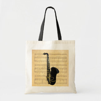 Gold and Black Saxophone Canvas Crafts & Shopping
