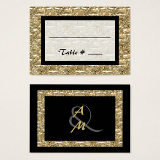 Gold and Black Seating Place Cards