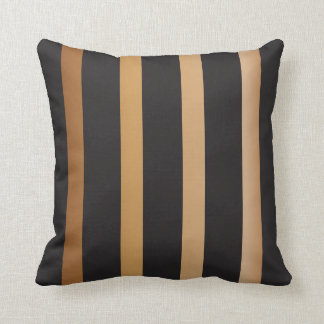 Gold and Black Striped Pattern Cushions