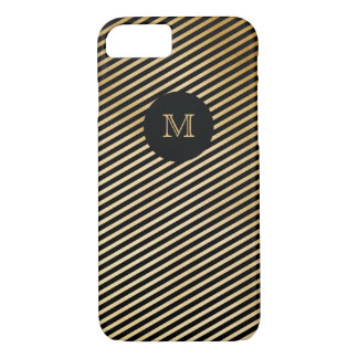 Gold and black striped Phone case