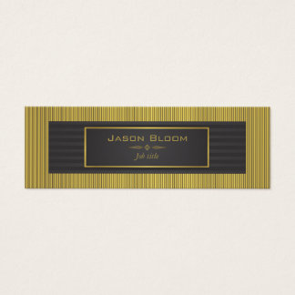 Gold and black stripes mini business card