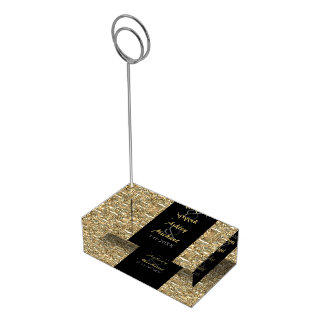 Gold and Black Table Card Holder