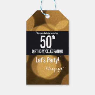 Gold and black theme, 50th birthday