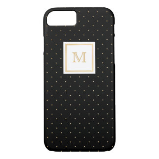 Gold and Black Tiny Polka Dot Phone case