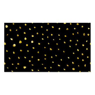 Gold and Black Torn Dots Faux Foil Metallic Starry Pack Of Standard Business Cards