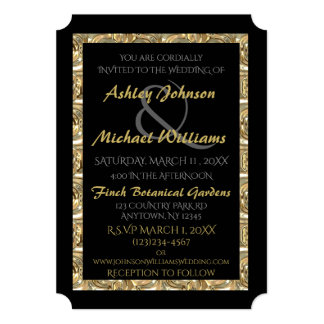 Gold and Black Wedding Invitation (Variation)