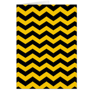 Gold and Black Zigzag Card