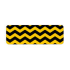 Gold and Black Zigzag Return Address Label