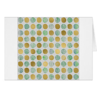 Gold and Blue Christmas Circles Card