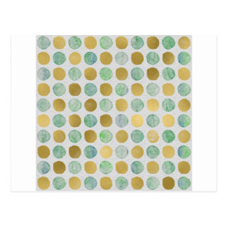 Gold and Blue Christmas Circles Postcard