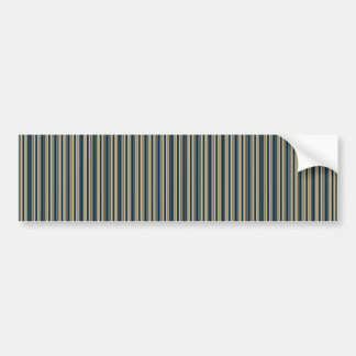 Gold and Blue Christmas Stripes Bumper Stickers