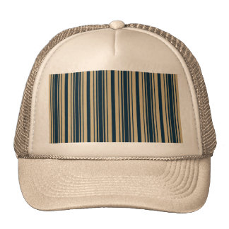 Gold and Blue Christmas Stripes Hats