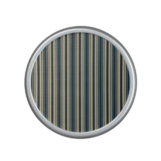 Gold and Blue Christmas Stripes Speaker