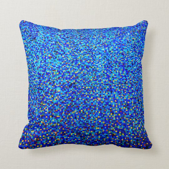Gold And Blue Cushion