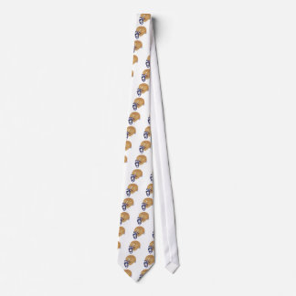 gold and blue football helmet vector graphic tie