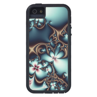 Gold and Blue Fractal Flowers iPhone 5 Case