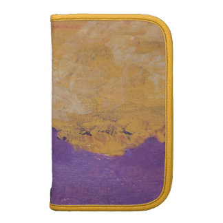 gold and blue smartphone planner