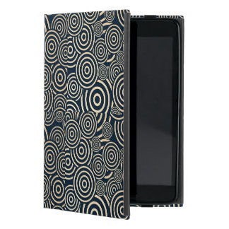 Gold and blue swirls iPad mini cover