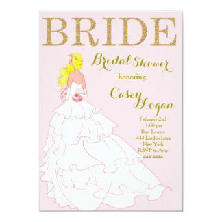 Gold and Blush Bridal Shower Invitation