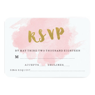 GOLD AND BLUSH WEDDING RSVP CARD